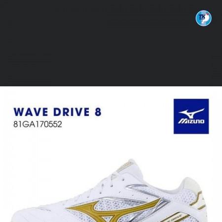 Giày MIZUNO Wave Drive 8 mẫu trắng vàng đồng