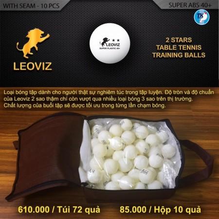 Bóng tập 2 sao LEOVIZ 40+ (72 quả)